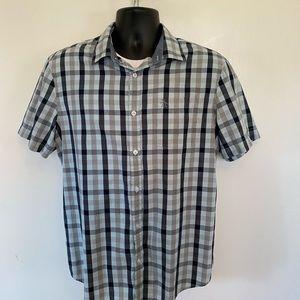 Penguin brand s/s blue on blue checkered shirt szM